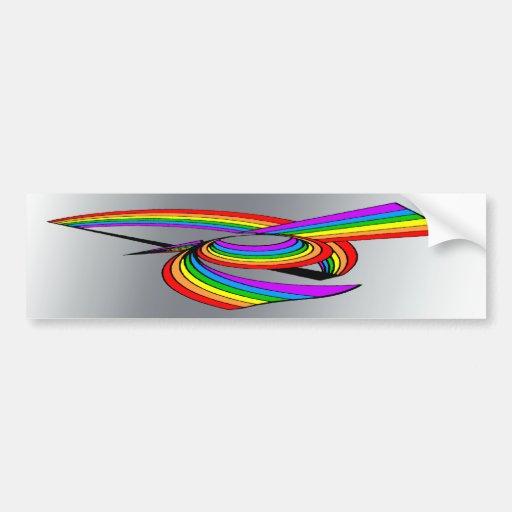 Rainbow # 5 Tattoo Bumper Stickers