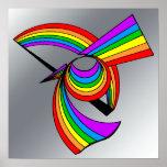 Rainbow # 5 Tattoo Poster