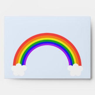 Rainbow 5x7 Invitation Envelope