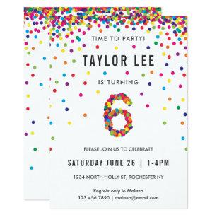 6th Birthday Invitations Zazzle