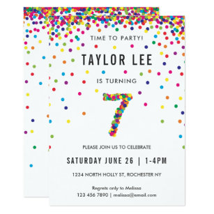 Boys 7th Birthday Invitations Zazzle
