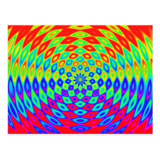 rainbow-882895 DIGITAL COLOURFUL RAINBOW ABSTRACT Postcard