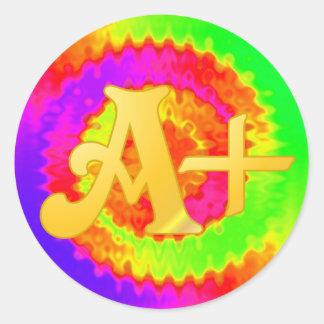 Rainbow A-Plus Stickers