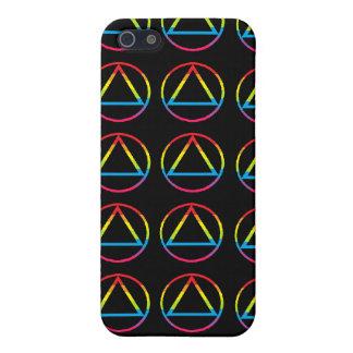 Rainbow AA Triangle Pattern iPhone 4/4S Case