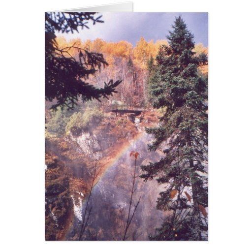 """Rainbow Above the Falls"" Stationery Note Card"