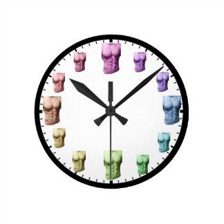 Rainbow Abs Wall Clock