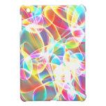 Rainbow abstract art iPad mini case