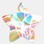 Rainbow abstract art star sticker
