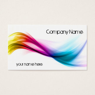 Rainbow abstract background business card