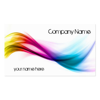 Rainbow abstract background Double-Sided standard business cards (Pack of 100)