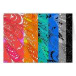 Rainbow Abstract Blank Card