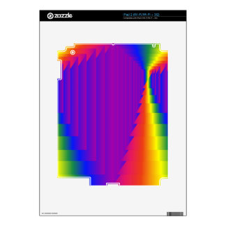 Rainbow Abstract Boxes iPad 2 Decals