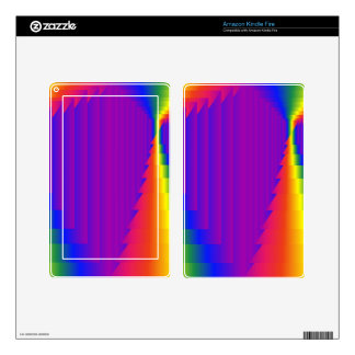 Rainbow Abstract Boxes Kindle Fire Decal