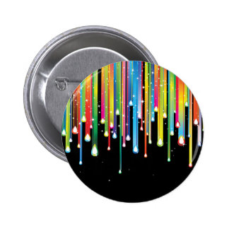 Rainbow ~ Abstract Color Spectrum Rain Jewels Pinback Buttons