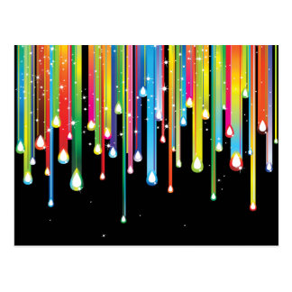 Rainbow ~ Abstract Color Spectrum Rain Jewels Postcard