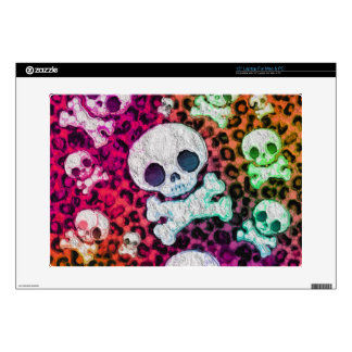 "Rainbow Abstract Cute Skulls 15"" Laptop Skin"