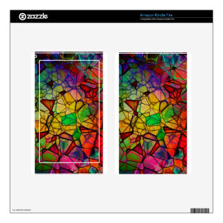 Rainbow abstract decal for kindle fire