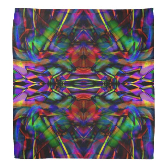 Rainbow Abstract Fractal Art Bandana