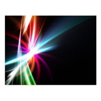 Rainbow Abstract Fractal Postcard