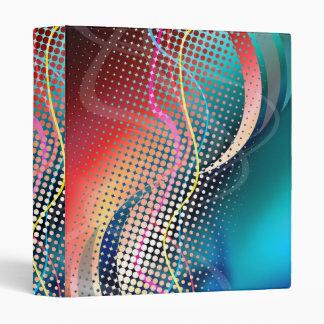 Rainbow Abstract Halftone Design Binder