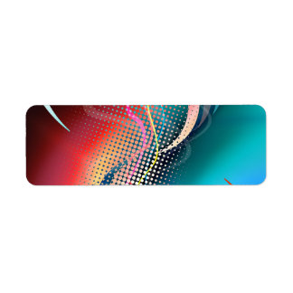 Rainbow Abstract Halftone Design Label