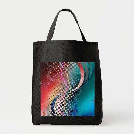 Rainbow Abstract Halftone Design Tote Bag