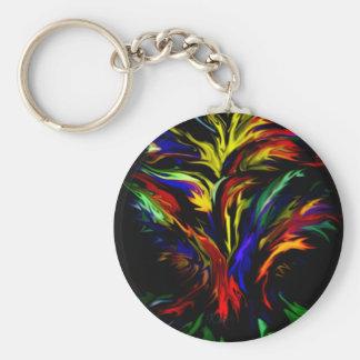 Rainbow abstract kind Deco fantasyart Keychain