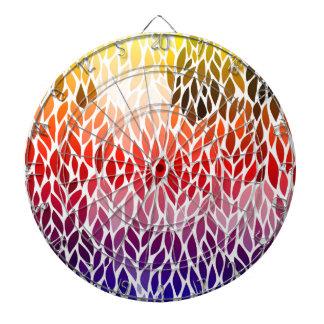 Rainbow Abstract Leaf Design Dartboard