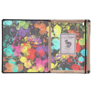 Rainbow Abstract Paint Splat Graphic Cover For iPad