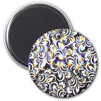 Rainbow abstract pattern magnet