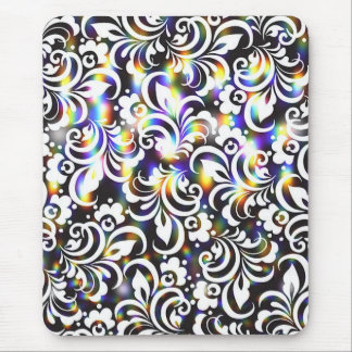Rainbow abstract pattern mouse pad