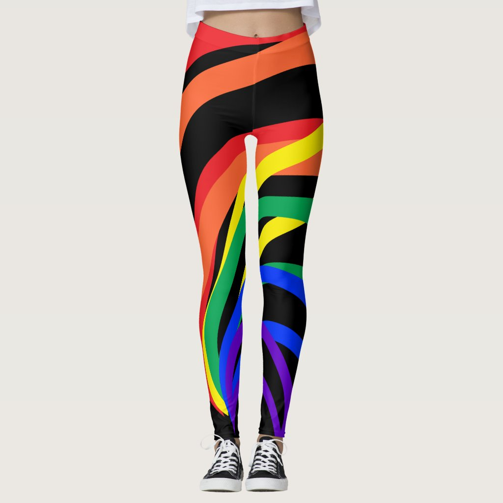 Rainbow Abstract Red Blue Green Yellow Leggings