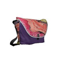 """Rainbow"" Abstract Rickshaw Messenger Bag"
