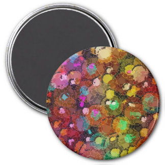 Rainbow Abstract Splatter Magnet
