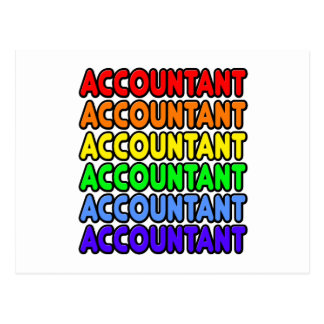 Rainbow Accountant Postcard