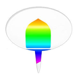 Rainbow Acorn Cake Topper