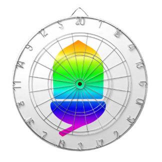 Rainbow Acorn Dartboard With Darts