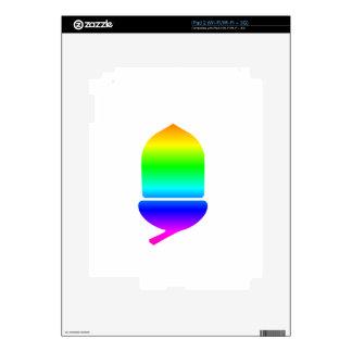 Rainbow Acorn Skins For The iPad 2