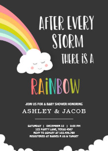 40842cdc454c8 Rainbow After a Loss Neutral Baby Shower Invitation