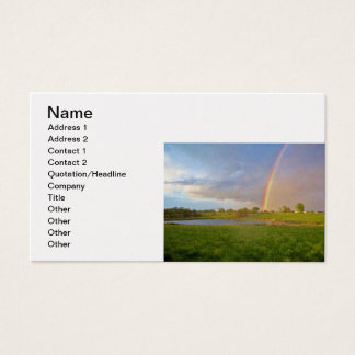 """Rainbow After the Storm"" Business Card"