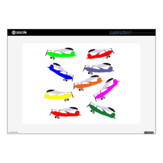 """Rainbow Airplanes 15"""" Laptop Decal"""