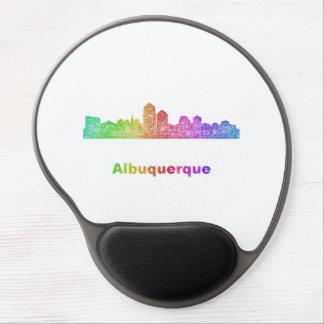Rainbow Albuquerque skyline Gel Mouse Pad
