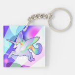 Rainbow Alicorn Keychain