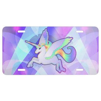Rainbow Alicorn License Plate