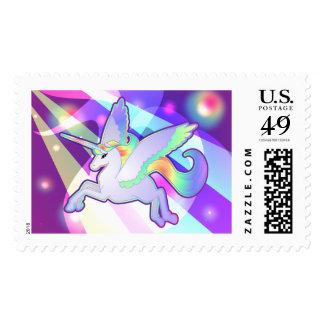 Rainbow Alicorn Postage