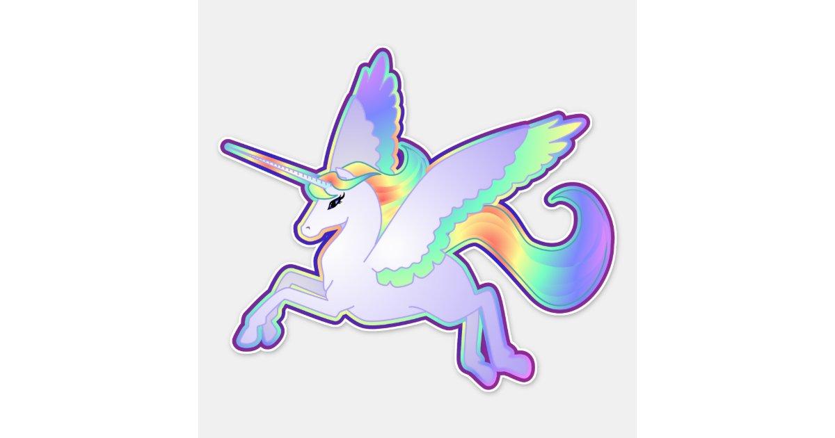 rainbow alicorn vinyl sticker zazzle com rainbow alicorn vinyl sticker zazzle com