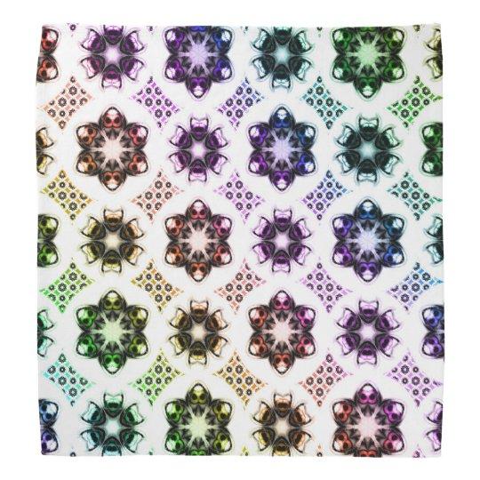 Rainbow Alien Eye Fractal Art Pattern Bandana