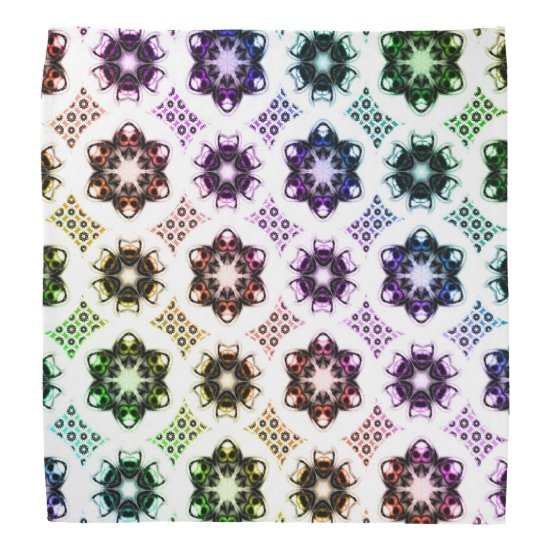 Rainbow Alien Eye Fractal Art Pattern Bandana
