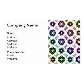 Rainbow Alien Eye Fractal Art Pattern Business Card