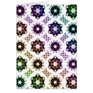 Rainbow Alien Eye Fractal Art Pattern Card